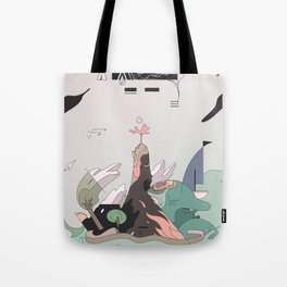 Windy Island Tote Bag