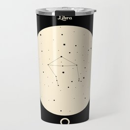 Libra - Black Travel Mug