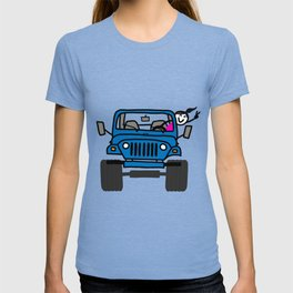 Jeep Wave Girl - Blue T-shirt