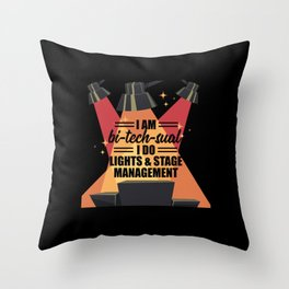Light Lights Stage Managment Lighting Engineer Gift Throw Pillow