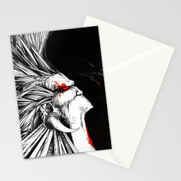 Silent Scream echoing into darkness Stationery Cards