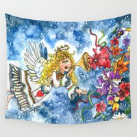 angel Wall Tapestries featuring Angel by Shelley Ylst Art