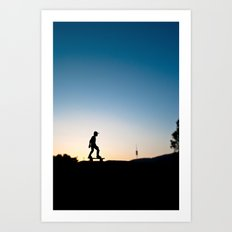 Skater in Barcelona Art Print