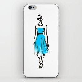 fashion sketch 1 iPhone Skin