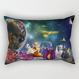 Dragonlings Space Party Rectangular Pillow
