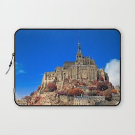 Autumn Shades of Mont Saint-Michel Laptop Sleeve
