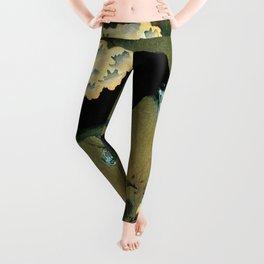 Ohara Koson - Top Quality Art - Crow and Blossom Leggings