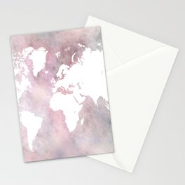 Design 66 world map Stationery Cards