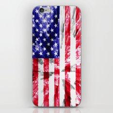 American Flag Extrude iPhone Skin