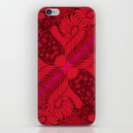 Diagonal Abstract Psychedelic Doodle 8 iPhone Skin