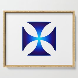 Glowing symbol Cross Pattee (Christianity) Serving Tray