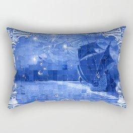 Portugal Azulejo Tile Rectangular Pillow