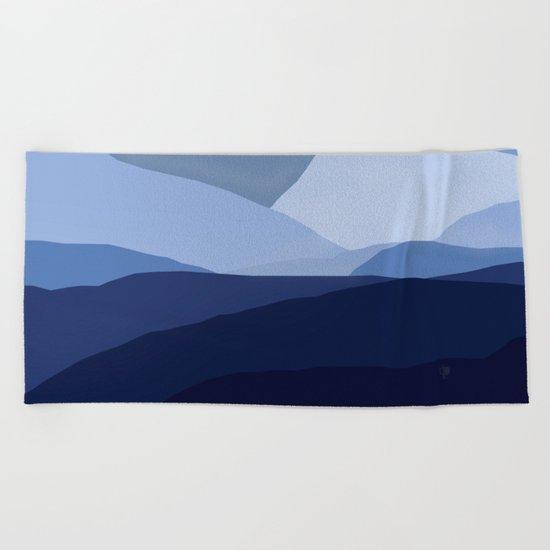 Blue C. Montains Beach Towel