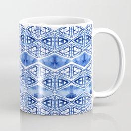Watercolor blue indigo triangles Coffee Mug