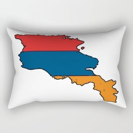 Armenia Map with Armenian Flag Rectangular Pillow