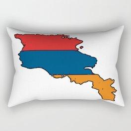 Armenia Map with Armenian Flag Rectangular Pillow