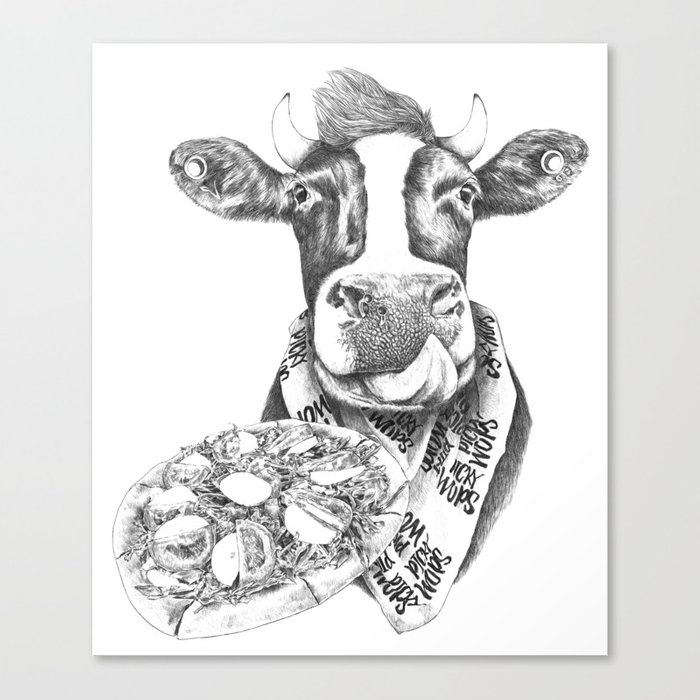 Picky Moo Canvas Print
