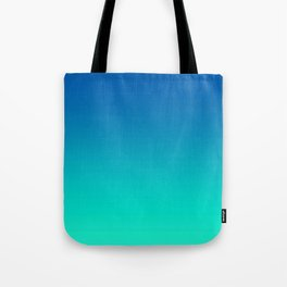 Teal Mint Ombre Tote Bag