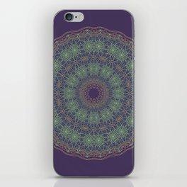 Lotus Mandala on Dark Purple - 2 iPhone Skin