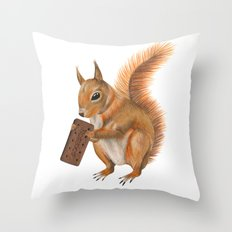 Super squirrel. Throw Pillow