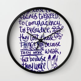 Vlogbrothers- Thoughts From A Battlefield Wall Clock