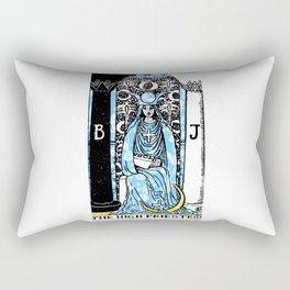 A Floral Tarot Print - The High Priestess Rectangular Pillow