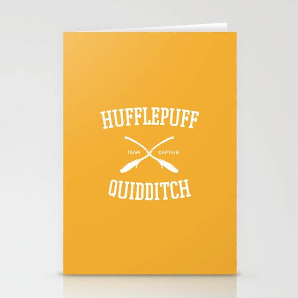 Hogwarts Quidditch Team: Hufflepuff Stationery Cards