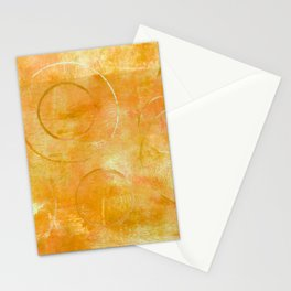 Will it Go Round in Circles, Abstract Art Painting Stationery Cards