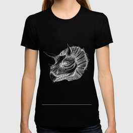 Triceratops negative drawing T-shirt
