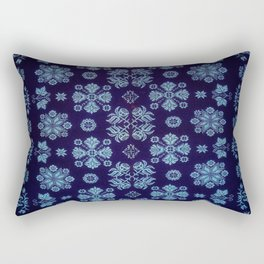 Floral Fabric Vintage Gift Pattern #5 Rectangular Pillow