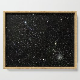 Space - Stars - Starry Night - Black - Universe - Deep Space Serving Tray