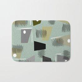 Mid-Century Modern Green Abstract Bath Mat