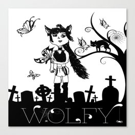 WOLFY BY LYDIA Canvas Print