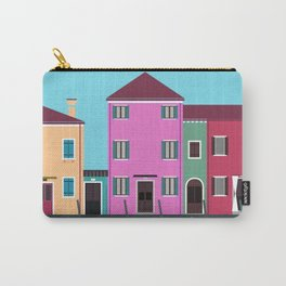Burano, Italy Travel Poster Block Type Carry-All Pouch