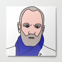 Michael Stipe of REM Illustration - Lead Singer of the 90s Collection  Metal Print