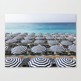 Stripes in the French Riviera Canvas Print