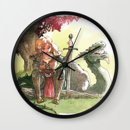 Warrior's rest Wall Clock
