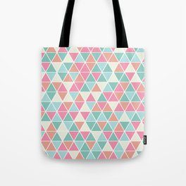 Triangulation (pink and green) Tote Bag