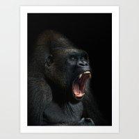 scream Art Prints featuring scream! by Jo.PinX