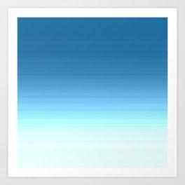 Sea blue Ombre Art Print