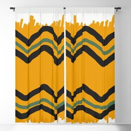 Abstract Waves Blackout Curtain