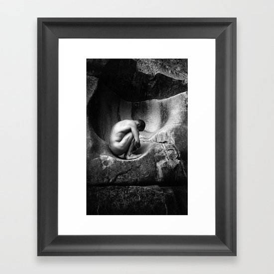 In Utero - Black and White Framed Art Print