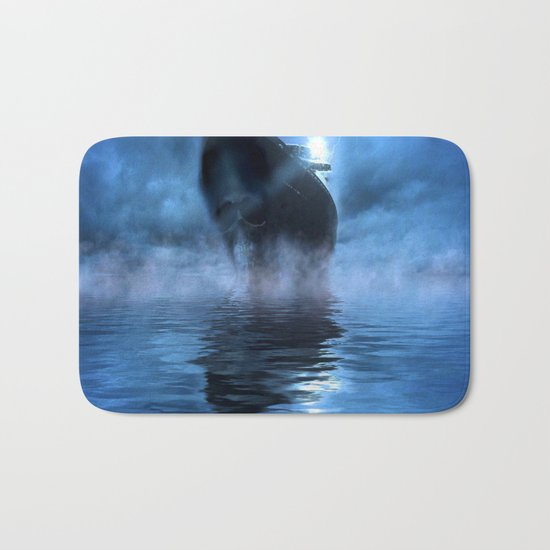 Ghost Ship Guided by Star Bath Mat