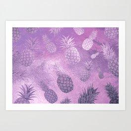 Ananas Fruit Pattern 3 Art Print