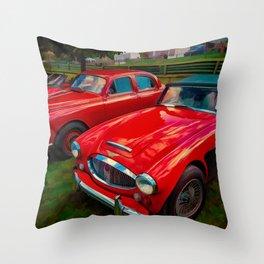 Austin Healey British Sports Car Throw Pillow