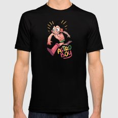 astro boy Mens Fitted Tee Black MEDIUM