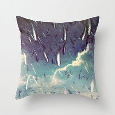 Swimming in your ocean Throw Pillow