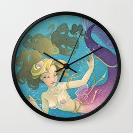 Mermaid Set Me Free Wall Clock