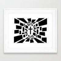 christian schloe Framed Art Prints featuring Christian Cross by politics