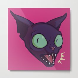 Mad Cat Metal Print